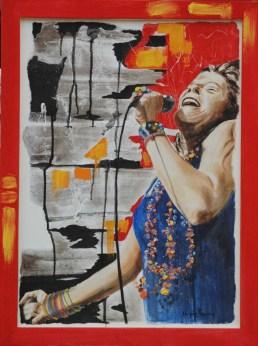 arch.n. 24 janis Joplin affresco su tela, cm 60x80 – anno 2007