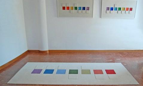 tappeto realizzato a mano su commissione dell'artista, su disegno di sua opera