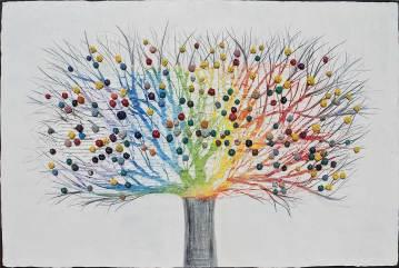 Albero dai buoni frutti, archivio n. 1487, cm 100x150 Affresco