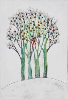 Albero dai buoni frutti, archivio n. 1728, cm 150x100 Affresco