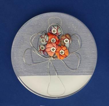 i BUONI-FRUTTI- archivio n. 1945-A- cm 10 - 2021. plexiglass+ stoffa resinata e filo acciaio