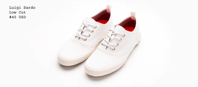 Cheap White Low Cut Shoe