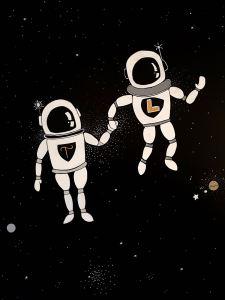 astronauti dipinti