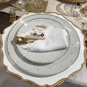 not only for Christmas, decorations, table setting, white and gold