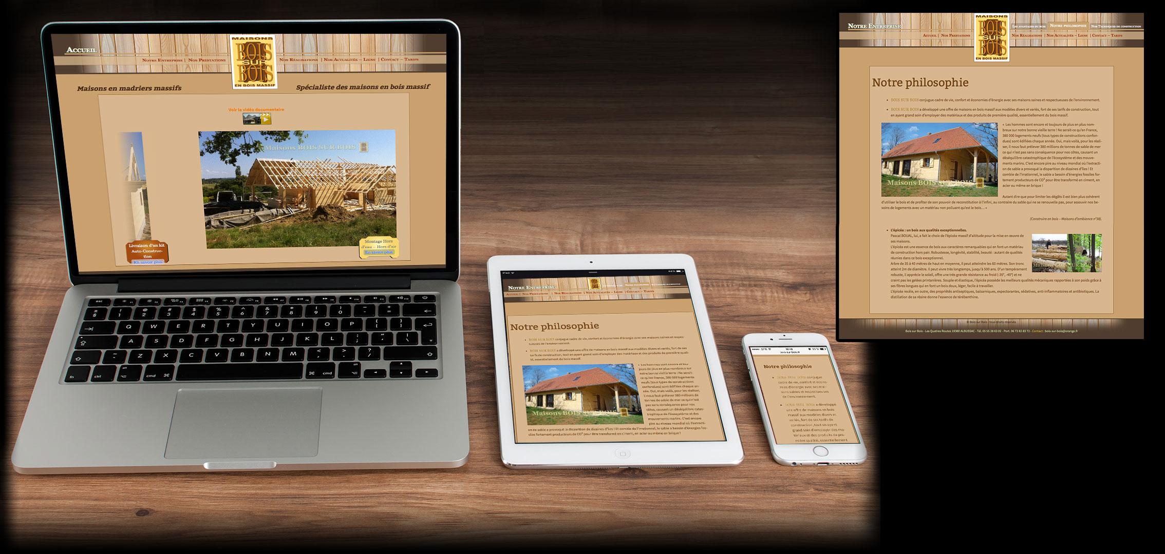 bois sur bois : constructeur de maisons en bois.