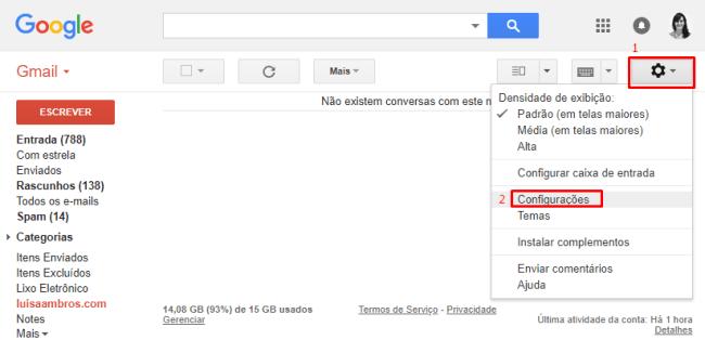 como cancelar um e-mail enviado pelo gmail