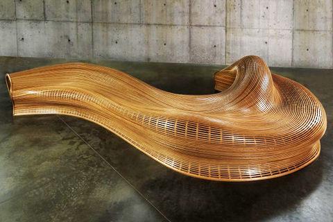 Amanda bench, banco de diseño paramétrico realizado por el diseñador Matthias Pliessnig
