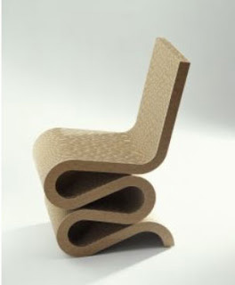 Silla Wiggle diseñada por Frank Gehry