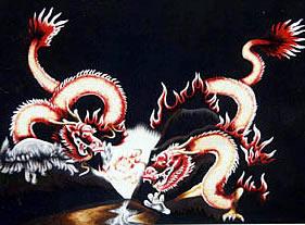 Muestra representativa de un dragón japonés