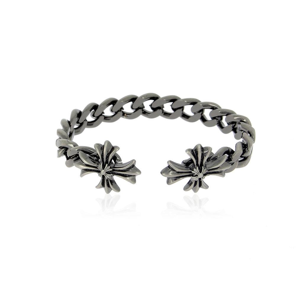 Double Cross Adaptable Rigid Chain Bracelet Luis De Lis