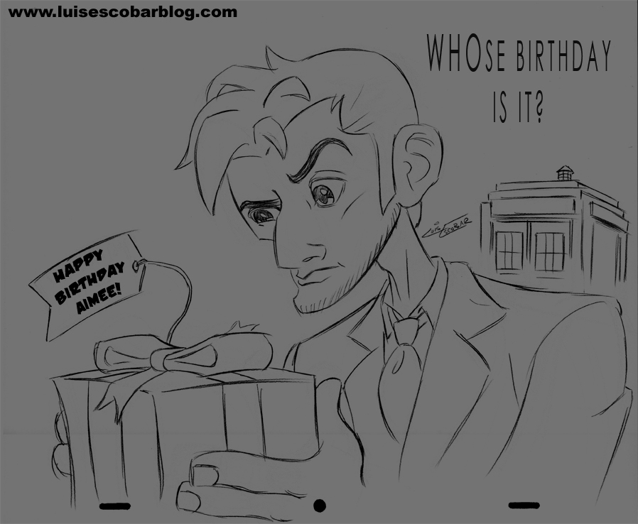 Line Drawing Of A Doctor : Doctor who drawingluis illustrated luis
