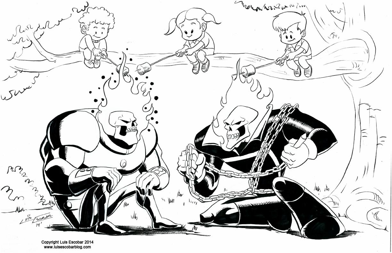 ghost rider vs atomic skull luis u0027 illustrated blog