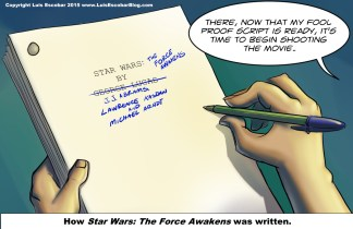 How Star Wars the force awakens was written