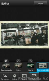 Efectos fotográficos en BlackBerry 10
