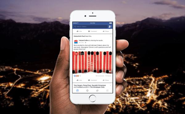 audio en vivo en Facebook