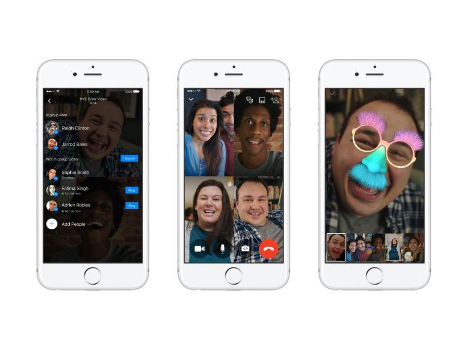 Videollamadas grupales Facebook Messenger