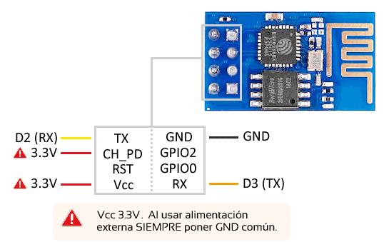 arduino esp01 esp8266 esquema - Electrogeek