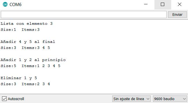 arduino linked list resultados - Electrogeek
