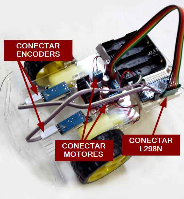 robot 2WD arduino montaje conectar - Electrogeek
