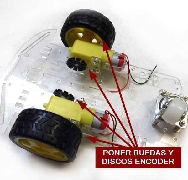 robot 2WD arduino montaje ruedas - Electrogeek