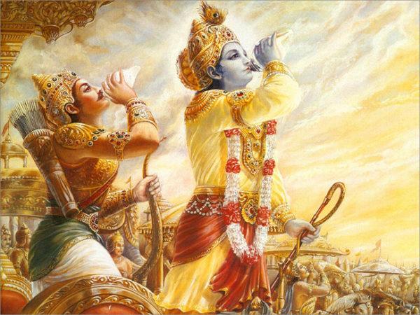 Krishna e Arjuna, protótipo universal da relação mestre e discípulo.