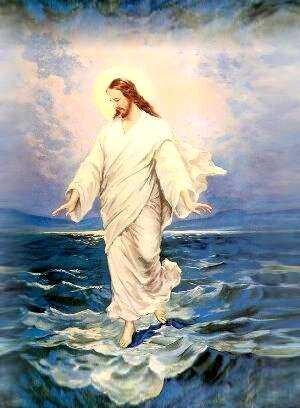 Jesús camina sobre el mar