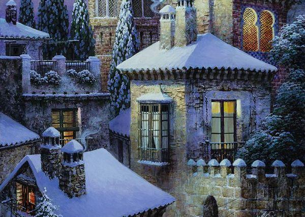 Nieve en la medina