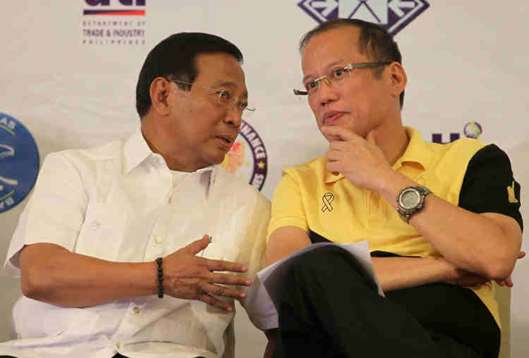 Jojo Binay and Noynoy Aquino