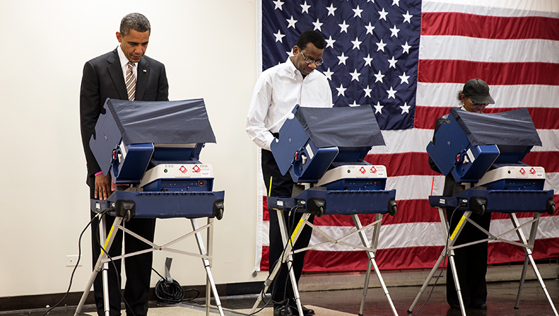 US President Obama voting (White House Photo)