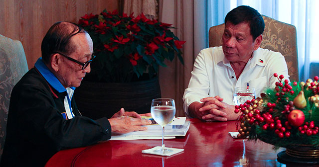 Fidel Ramos and Rodrigo Duterte