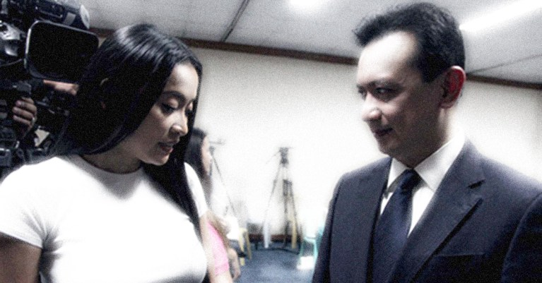 Sonny Trillanes, Mocha Uson chat after Senate hearing