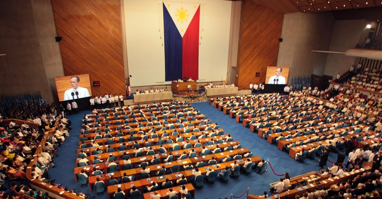 President Benigno Aquino III delivers the 2011 State of the Nation Address (SONA) to a joint session of the Congress of the Philippines.