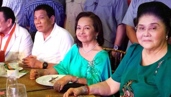 Joseph Estrada, Rodrigo Duterte, Gloria Arroyo and Imelda Marcos