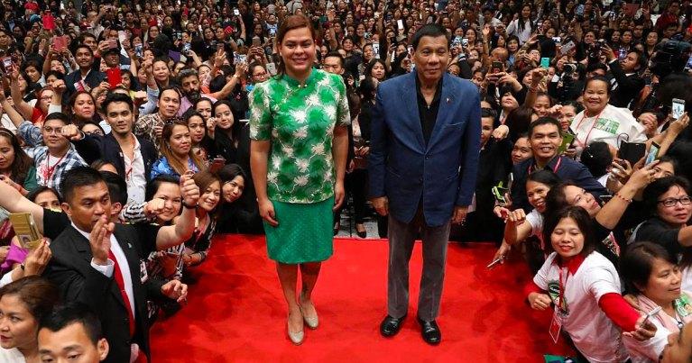 Sara Duterte-Carpio and Rodrigo Duterte