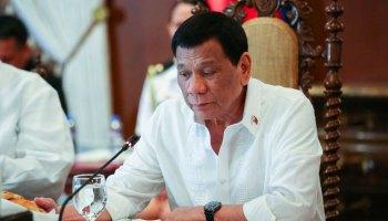 President Rodrigo Duterte presides over a Cabinet meeting