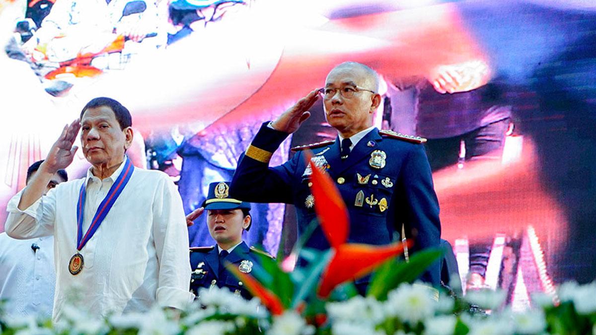 Rodrigo Duterte and Oscar Albayalde