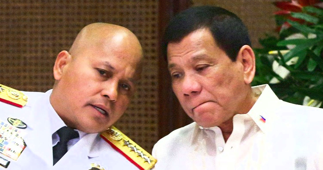 Rodrigo Duterte and Ronald dela Rosa