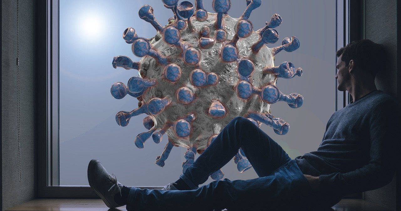 Man and the COVID-19 virus