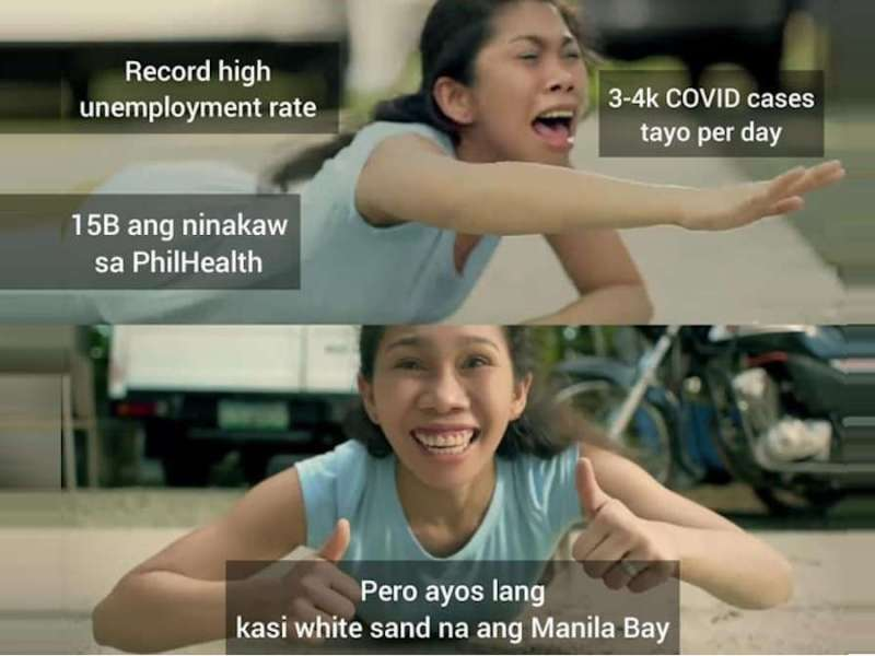 Duterte pa rin meme - Manila Bay version