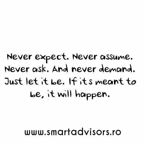 never expect