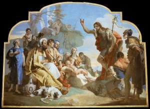 John the Baptist Preaching - Giovanni Battista Tiepolo, 1732-1733