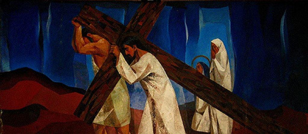 Do mural de Vicente Mansala – As Estações da Cruz
