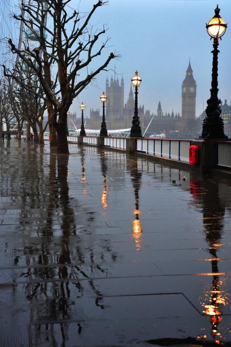 Autumn Rain, London, England