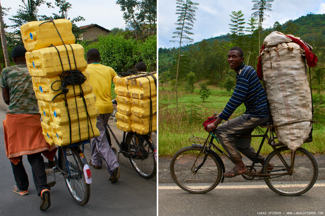Cargo bicycles often transport loads well in excess of hundred kilograms.