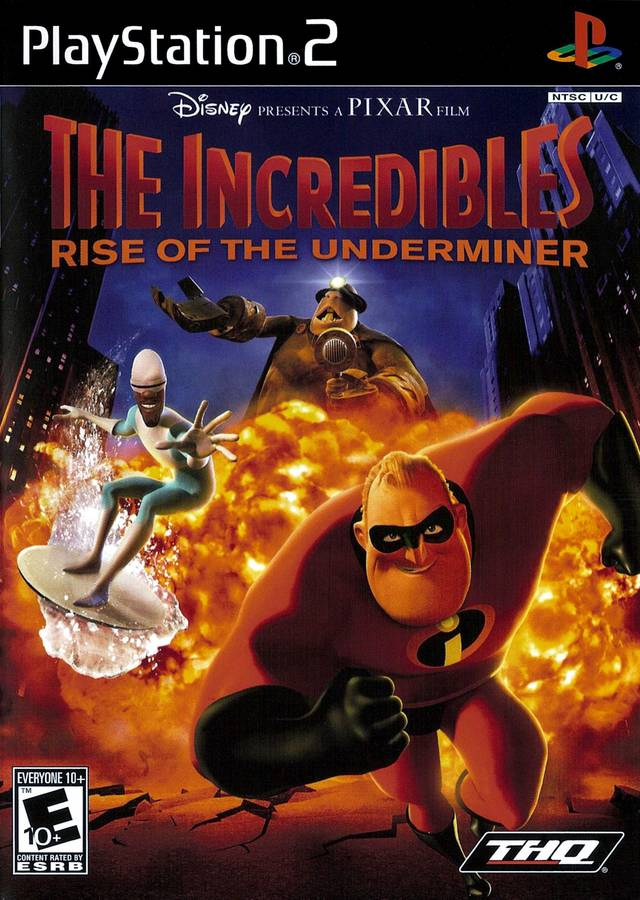 Incredibles Rise Of The Underminer Sony Playstation 2 Game