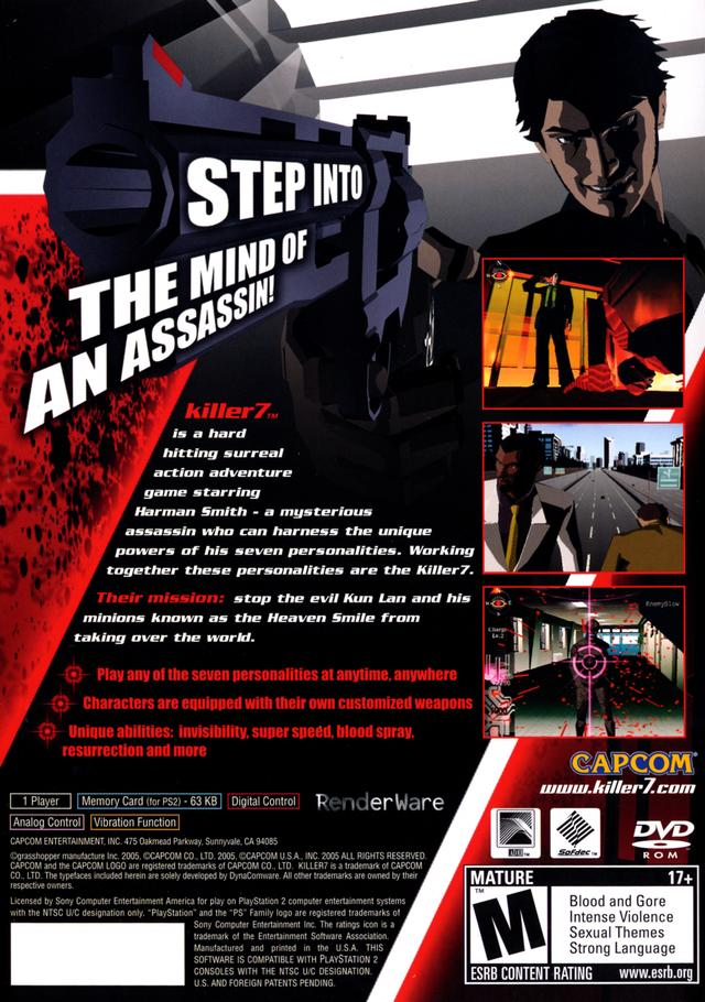 Killer 7 Sony Playstation 2 Game