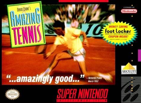 David Cranes Amazing Tennis SNES Super Nintendo
