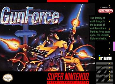 GunForce SNES Super Nintendo
