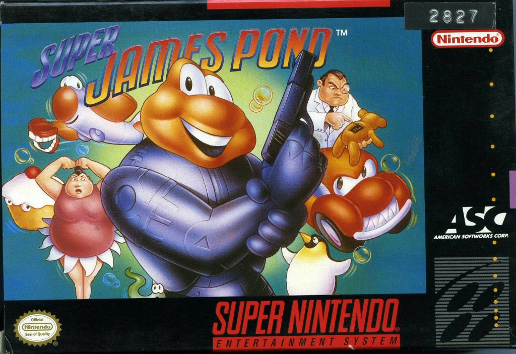 Super James Pond SNES Super Nintendo