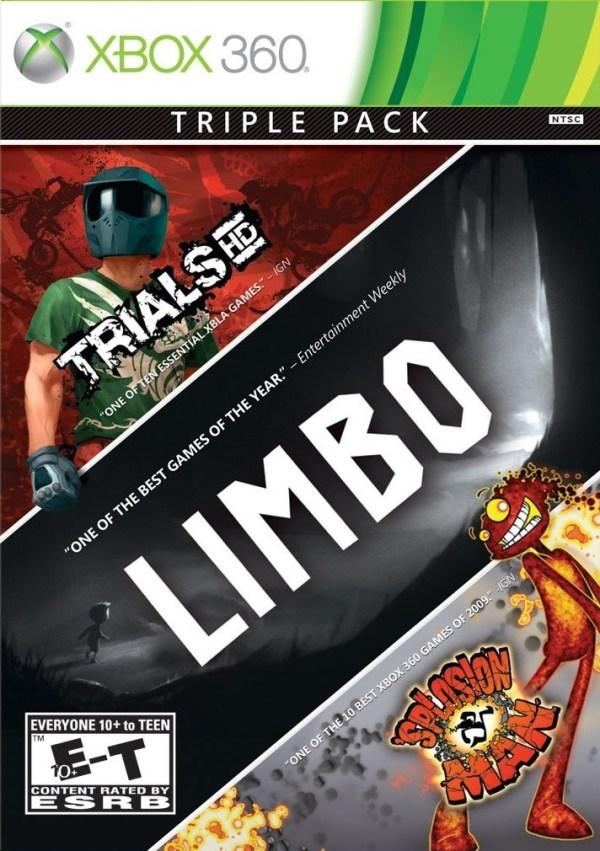 Triple Pack: Limbo, Trials HD, Splosion Man Xbox 360 game